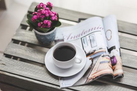 Anglická četba o kávě
